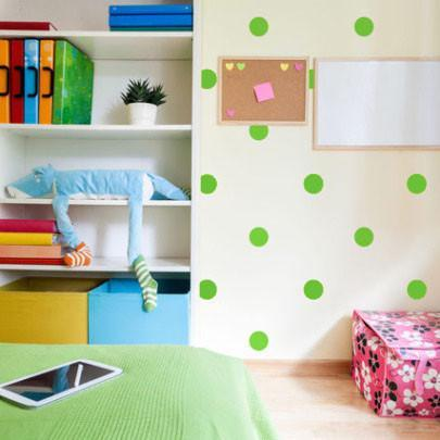 Lime Green Room Dot Decals - Create-A-Mural