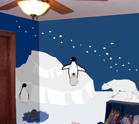Polar Region Mural Kit- Small - Kids Room Mural Wall Decals