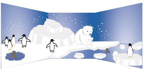 Polar Region Mural Kit Large - Kids Room Mural Wall Decals