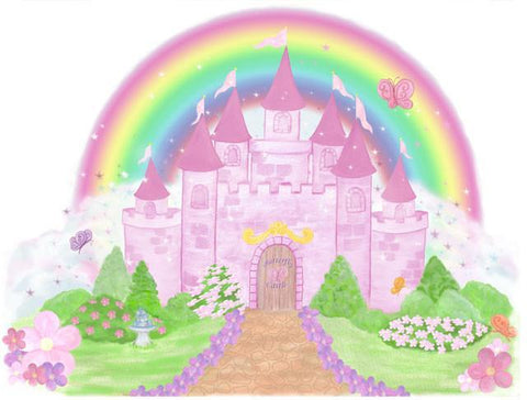 Castle Girls Wall Mural - Kids Room Mural Wall Decals