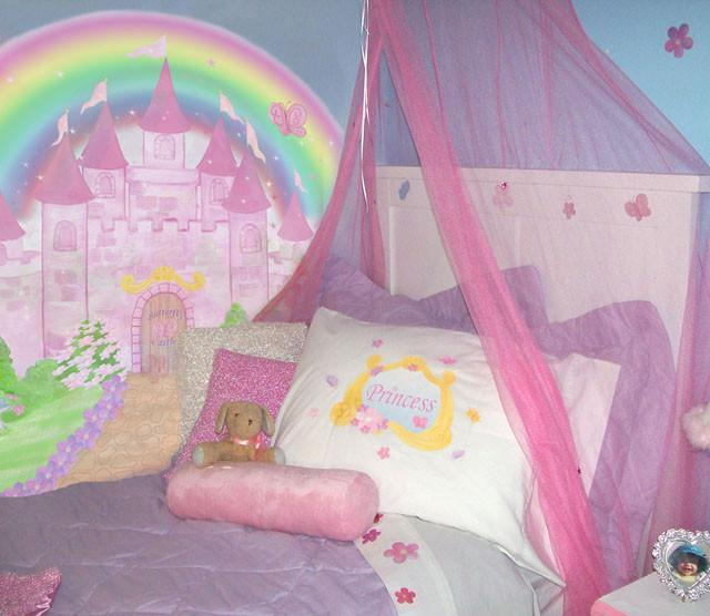 Princess castle wall decals murals create a mural for Cinderella castle wall mural