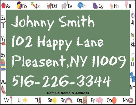 Personalized Name & Address Placemat