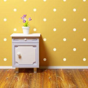 White Room Dots Wall Decals
