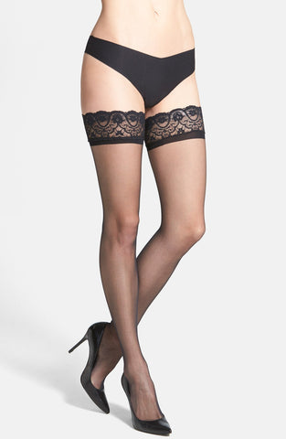 'Up All Night' Thigh High Stay-Up Stockings