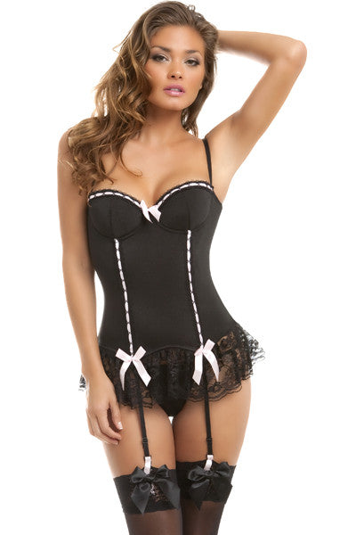 4196 2 Pc Bustier & G-String