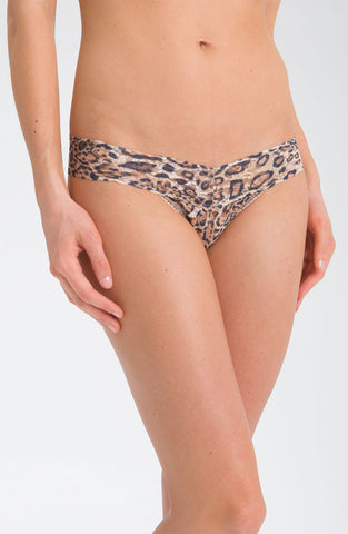 'Leopard' Low Rise Thong