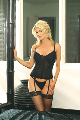 4875X Stretch Lace Bustier