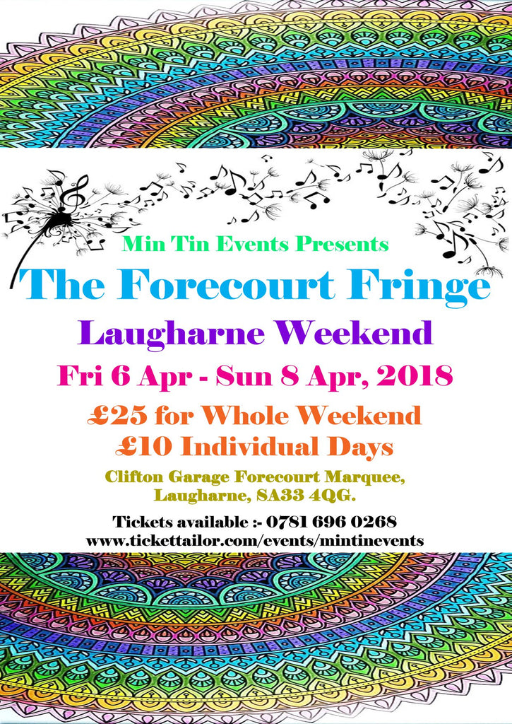 See Parthian Poets & Friends at The Forecourt Fringe in Laugharne