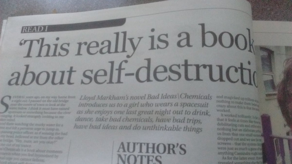 Author's Notes: Lloyd Markham Writes about Bad Ideas\Chemicals in the Western Mail