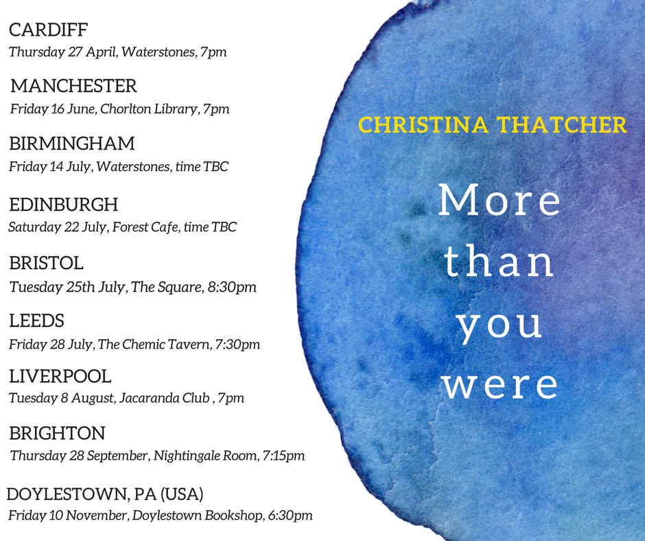 Book Launch Tour: More than you were by Christina Thatcher