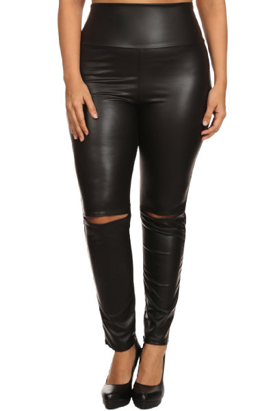 Pre-Order Maddona Vegan Leather Leggings PLUS SIZE