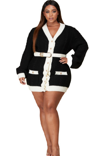 Pre-order COCO Bicolor Sweater dress Plus SIZE