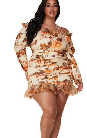 Pre-order ALINA Floral Dress Plus Size