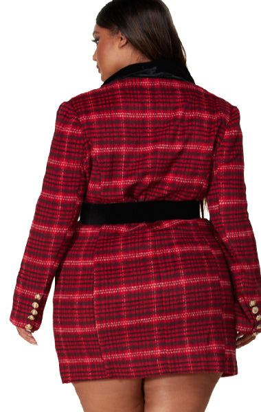 Pre-order HAILEY Tartan Coat Plus Size