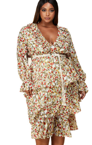 Pre-order Julie Floral Dress PLUS SIZE