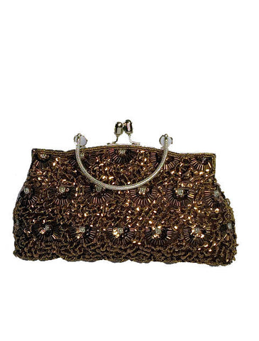 Brownie Sequined Clutch