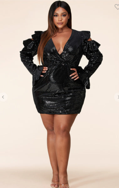 Pre-order Mara Sequin Dress Plus size