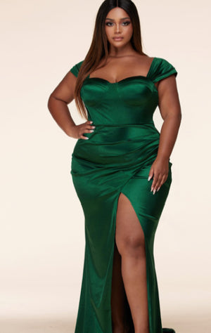 Pre-order Marilyn Evening Dress PLUS SIZE- GREEN