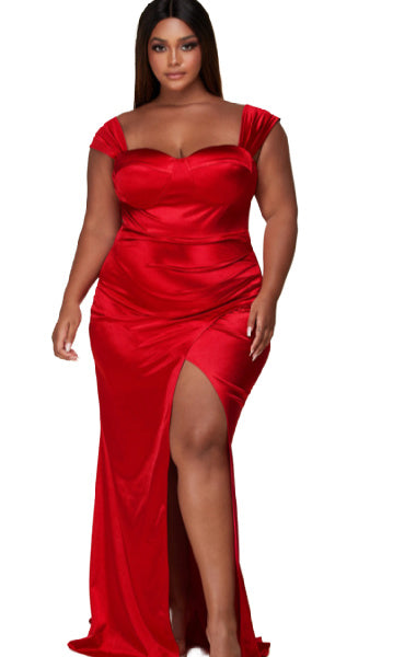 Pre-order Marilyn Evening Dress PLUS SIZE- RED