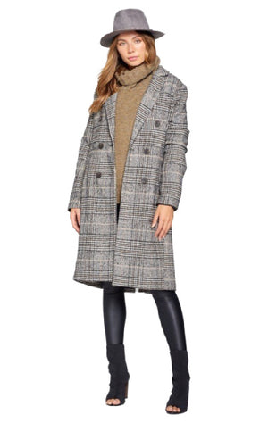 Pre-order ROSE Plaid coat
