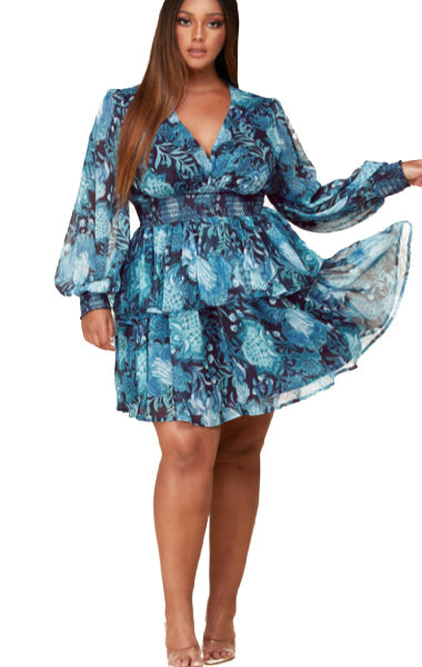 Pre-order Serena Floral Dress PLUS SIZE