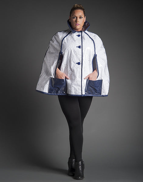 EVELYN Eyelet Rain Coat