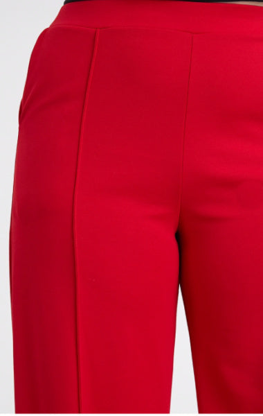 Pre-Order CERI WIDE LEG Trousers PLUS SIZE RED