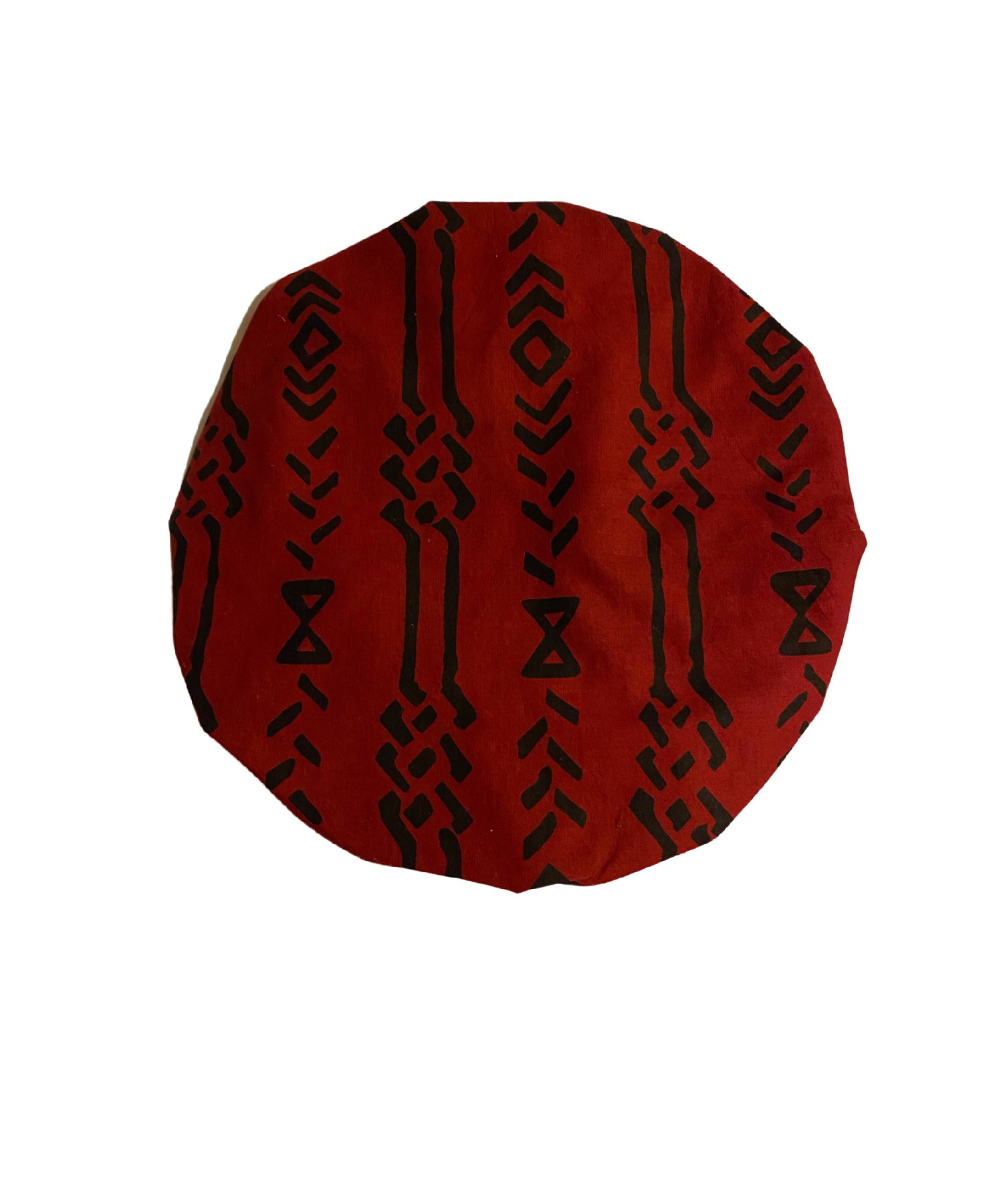 RED/BLK Tribal Head Wrap