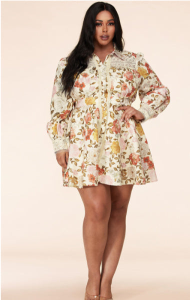 Pre-order Sansa Floral Dress Plus Size