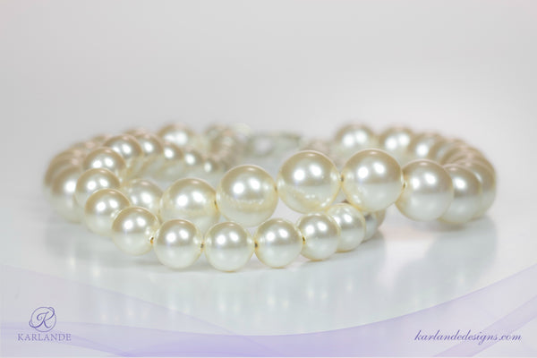 Bridal Twisted Pearl Bracelet