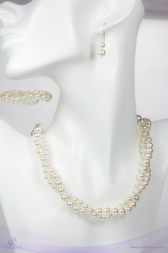 Bridal Twisted Pearl Set