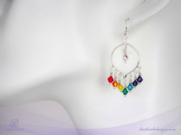 Chakra Chandelier Earrings
