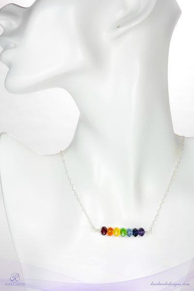 Chakra Rondelle Necklace