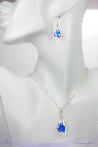 Devoted Heart Pendant and Earring Set