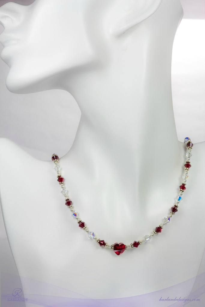 Heart and Stroke Necklace
