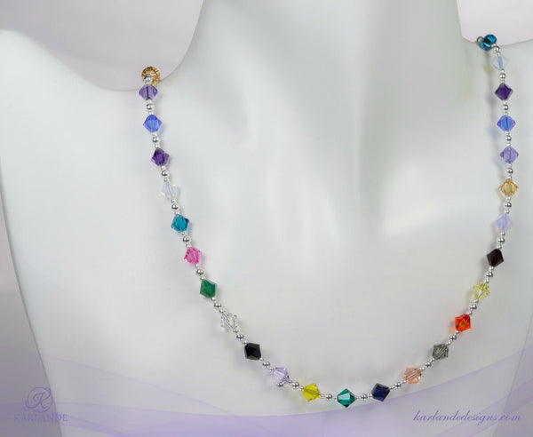 Hope Crystals Cancer Awareness 40-Crystal Necklace
