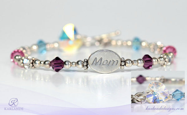 Mom Message Bead Bracelet