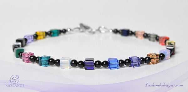 Men's Hope Crystals Cancer Awareness Bracelet