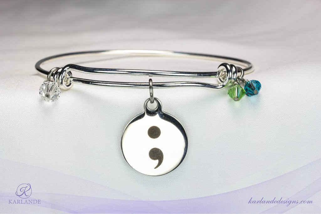 Semicolon Hope Bangle