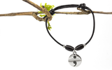 Semicolon Hope Leather Bracelet