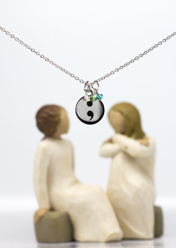 Semicolon Hope Pendant