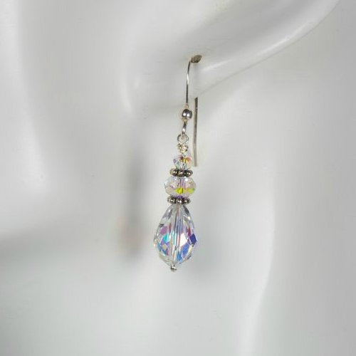 Bridal Crystal Teardrop Earrings