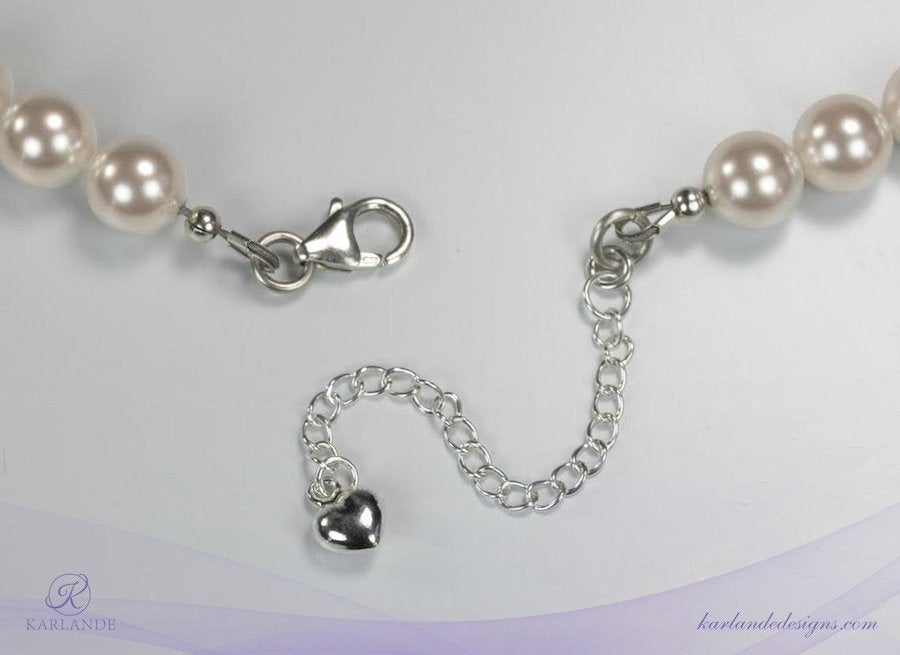 Bridal Pearl and Crystal Rondelle Set