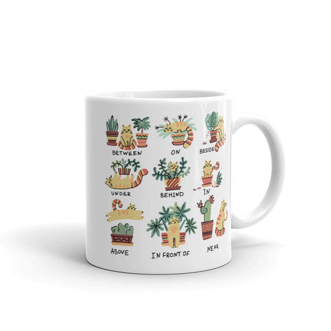 Cats and Plants coffee mug