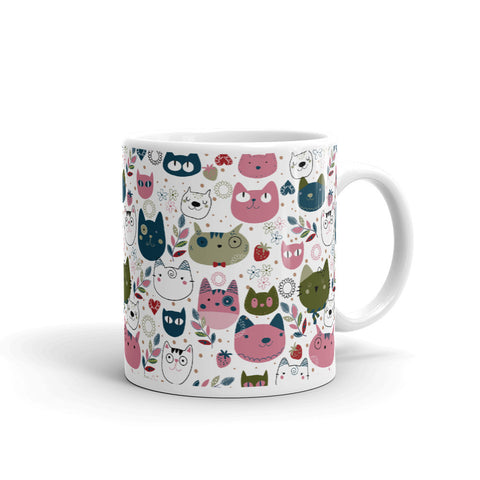 Cat collage coffee mug