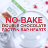 Chocolate Protein Bar Hearts