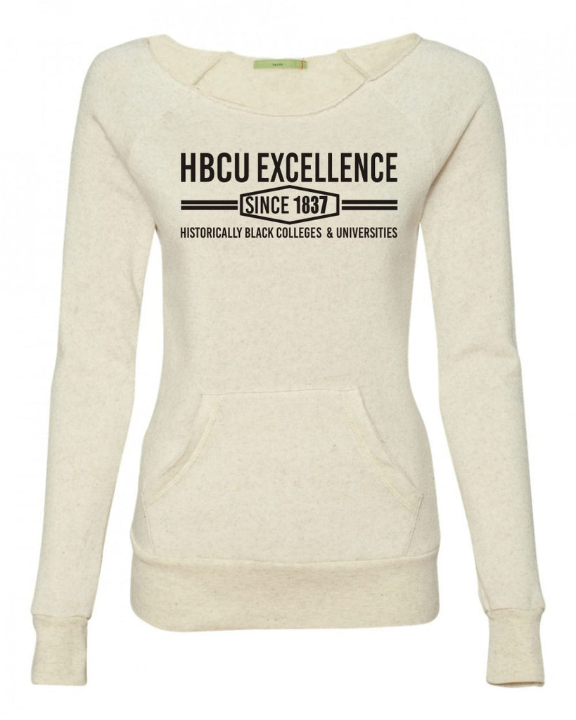 HBCU Excellence Sweatshirt- Cream with Black
