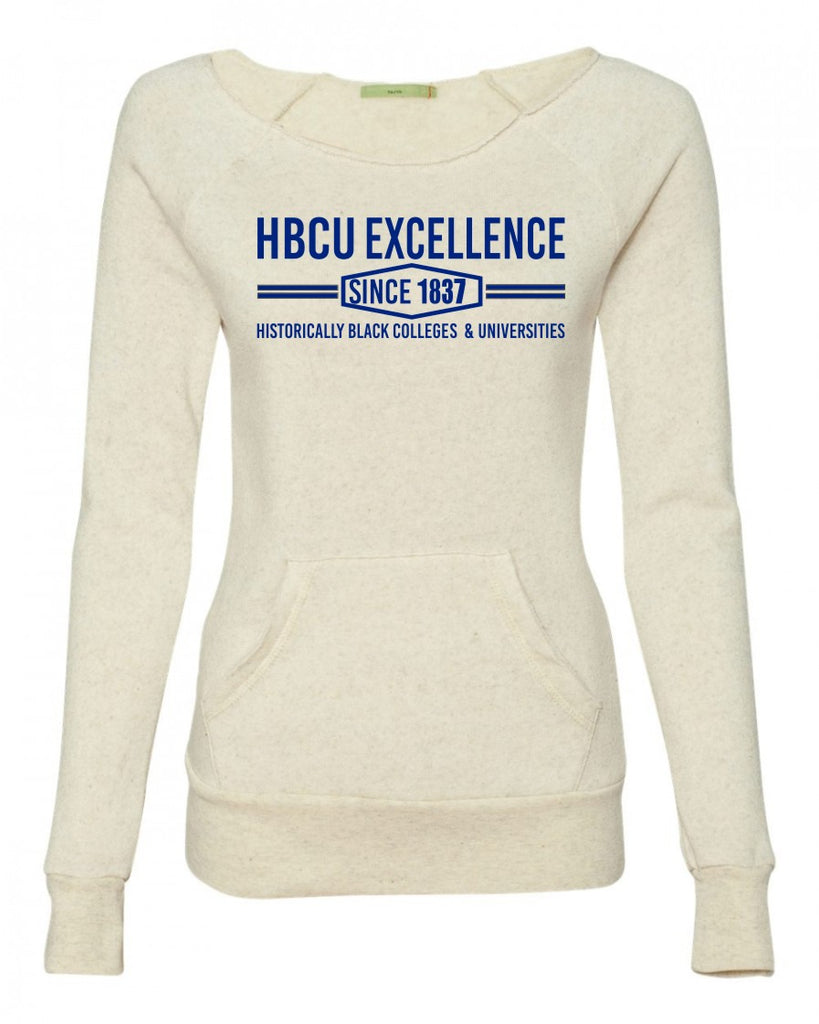 HBCU Excellence Sweatshirt- Cream with Navy