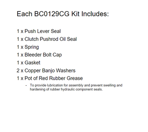 Brakecrafters Brake Cylinders 1983 Honda VT750C Shadow - Clutch Slave Cylinder Repair Kit & Gasket