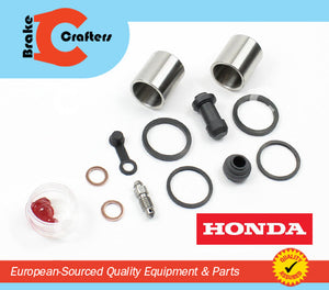 1989 - 1990 HONDA CB400F CB-1 - FRONT BRAKE CALIPER NEW SEAL & STAINLESS STEEL PISTON KIT